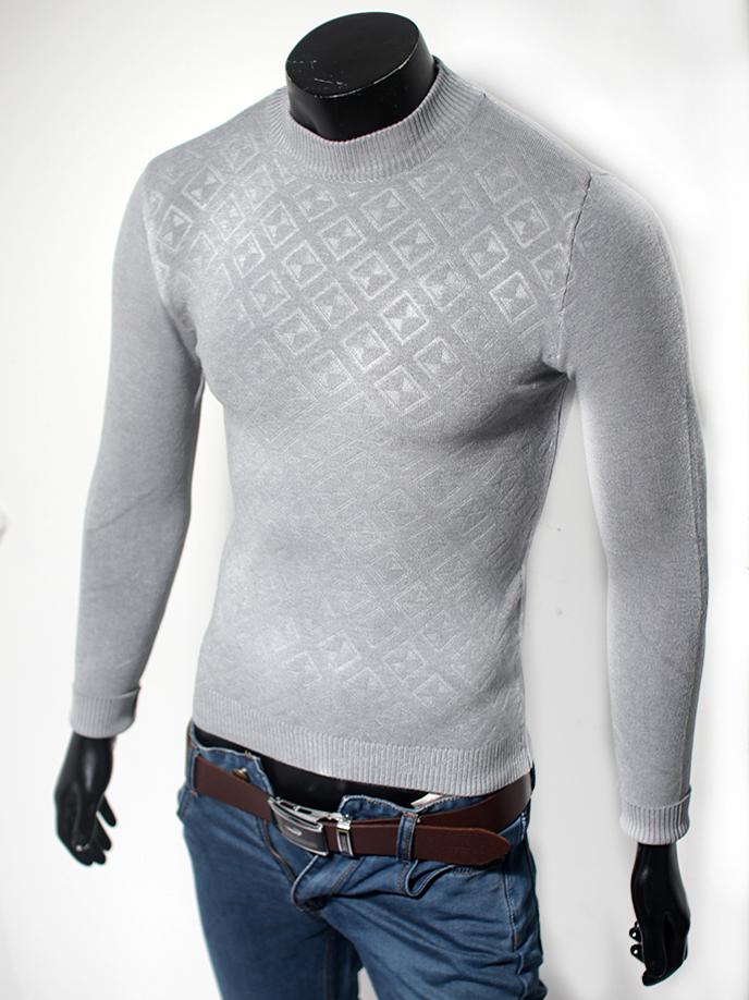 Áo len cổ tròn xám chuột al41 - 1