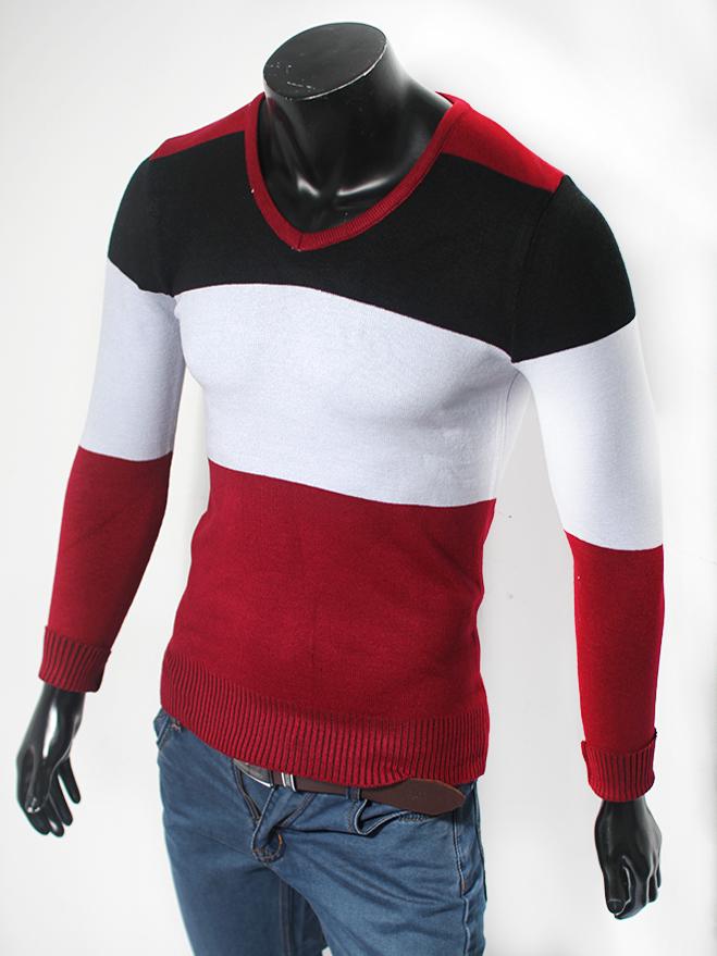 Áo len cổ tim đỏ đô al44 - 1