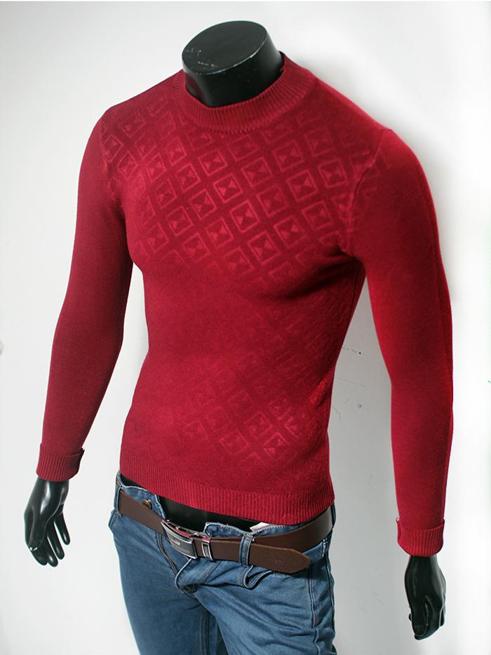 Áo len cổ tròn đỏ đô al41 - 1