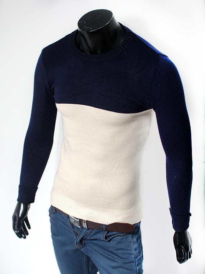 Áo len cổ tròn xanh al46-1 - 1