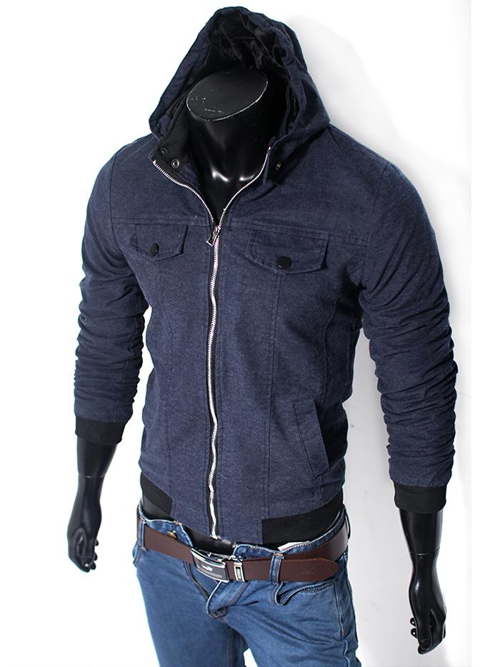 Áo khoác có nón xanh đen ak113 - 1