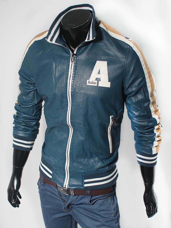 Áo khoác da xanh cổ vịt ak116 - 1