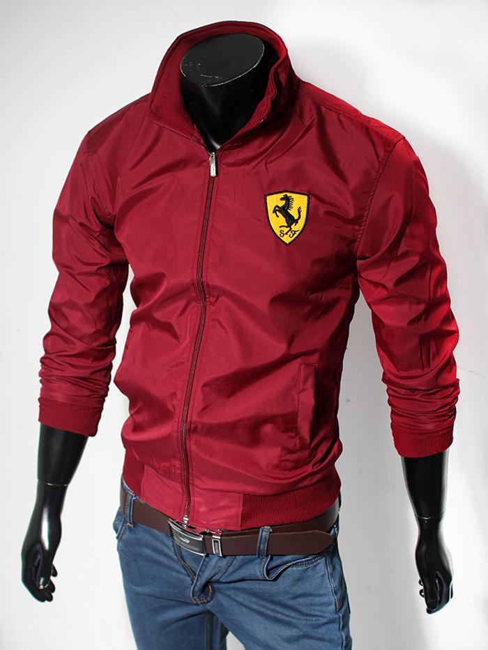Áo khoác dù đỏ đô ak115 - 1