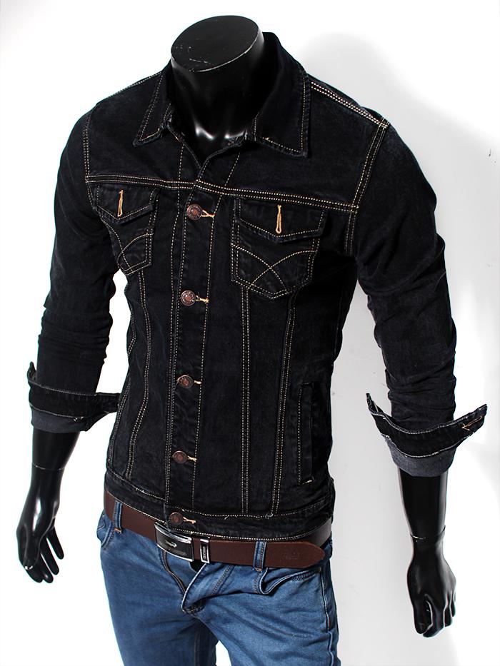 Áo khoác jean đen ak118 - 1