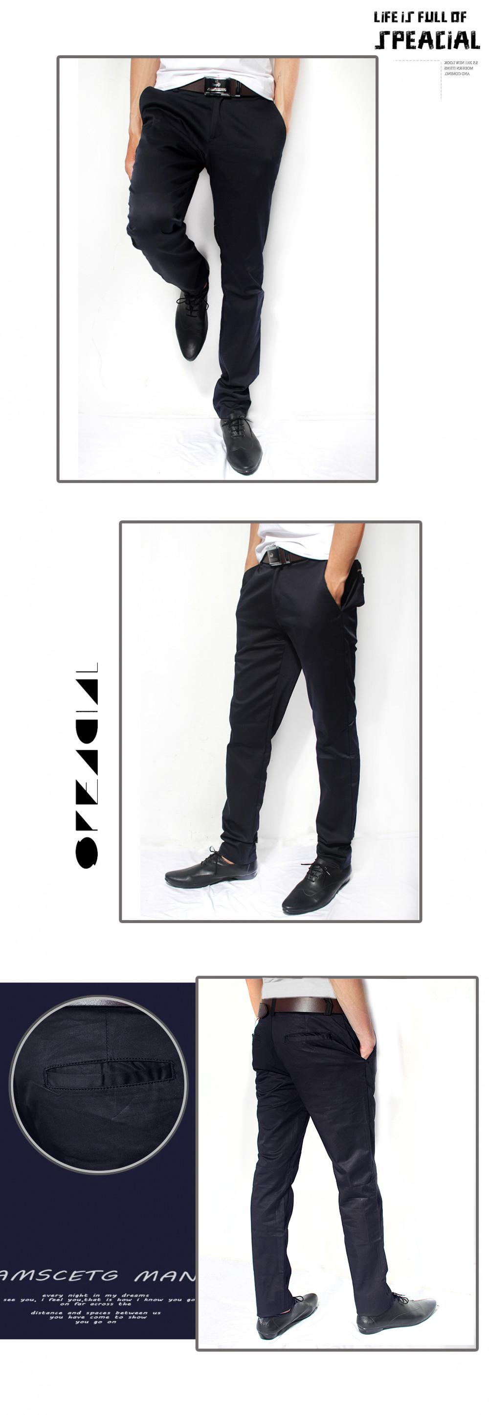 Quần kaki hàn quốc xanh đen qk110 - 1