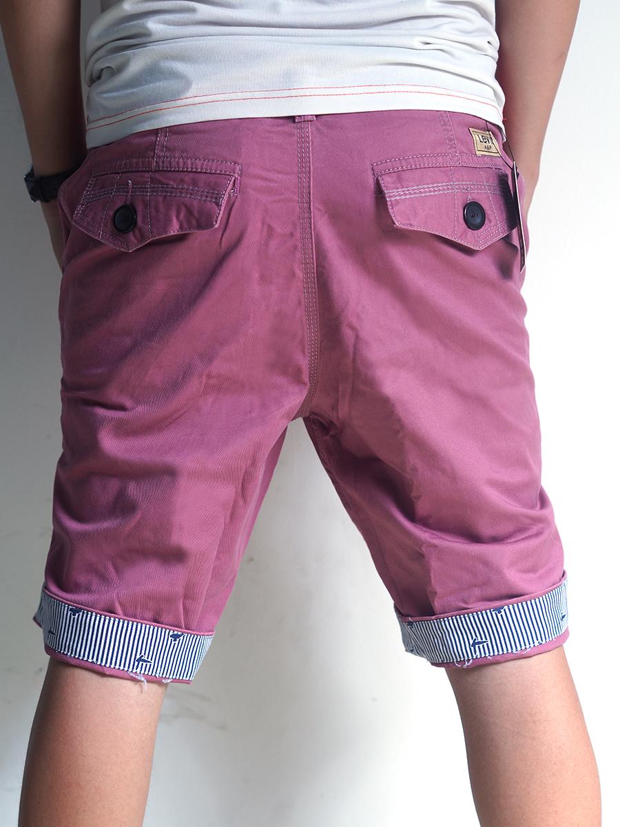 Quần short kaki hồng tím qs21 - 3