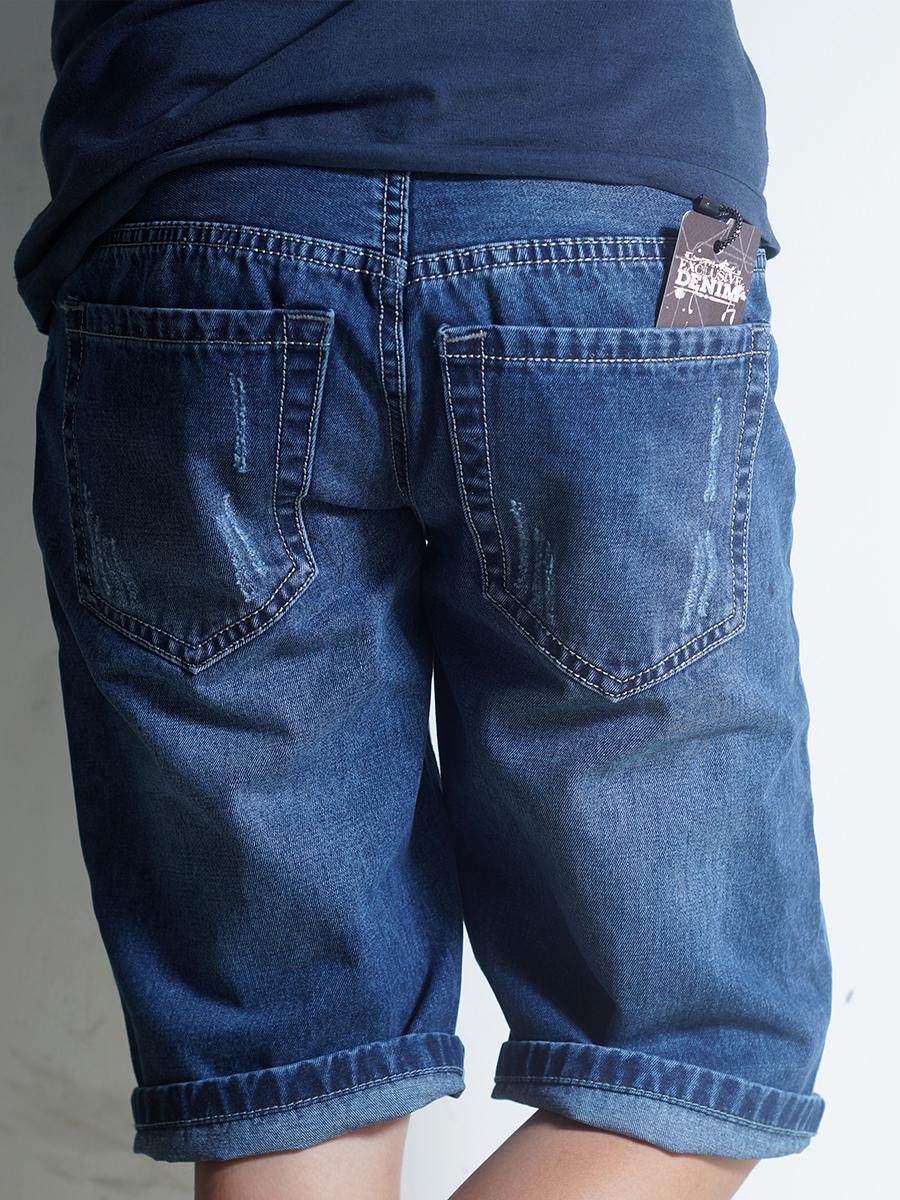 Quần short jean xanh đen qs36 - 2