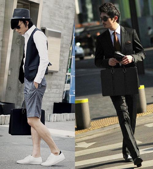Phái mạnh biến hóa phong cách cùng túi xách da - 1