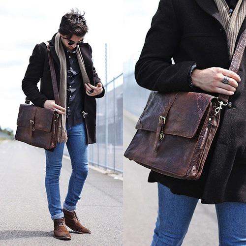Phái mạnh biến hóa phong cách cùng túi xách da - 2