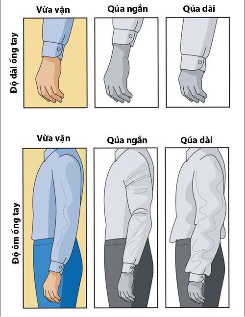 Mẹo hay giúp kiểm tra nhanh độ rộng - chật của áo sơ mi nam - 1