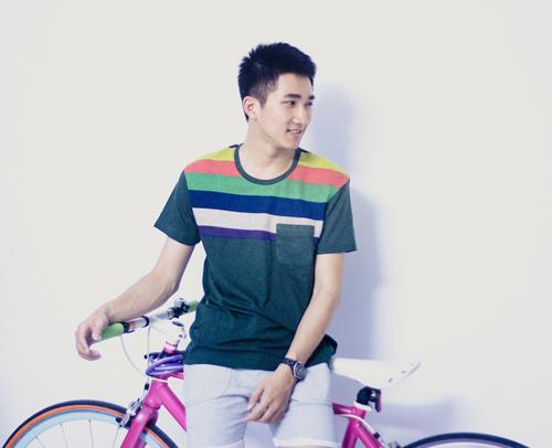 Bạn nam trẻ đẹp với áo thun gía rẻ - 7