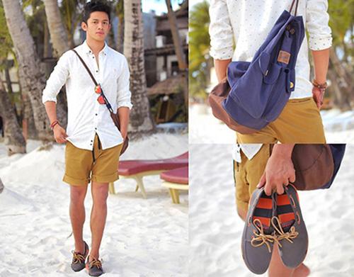 Bí quyết mặc đẹp cùng quần short nam - 5