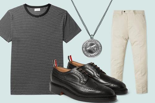 Gợi ý cách phối giày công sở và áo t- shirt cho phái mạnh - 5