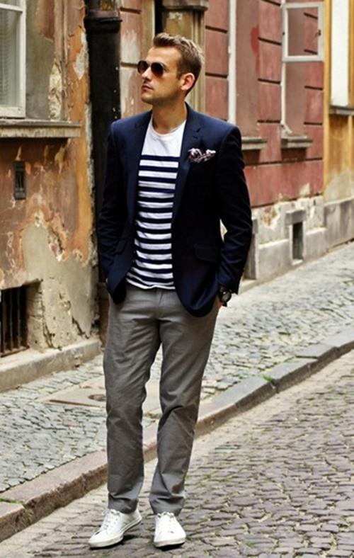 Mách chàng cách phối áo vest với thun sành điệu - 1