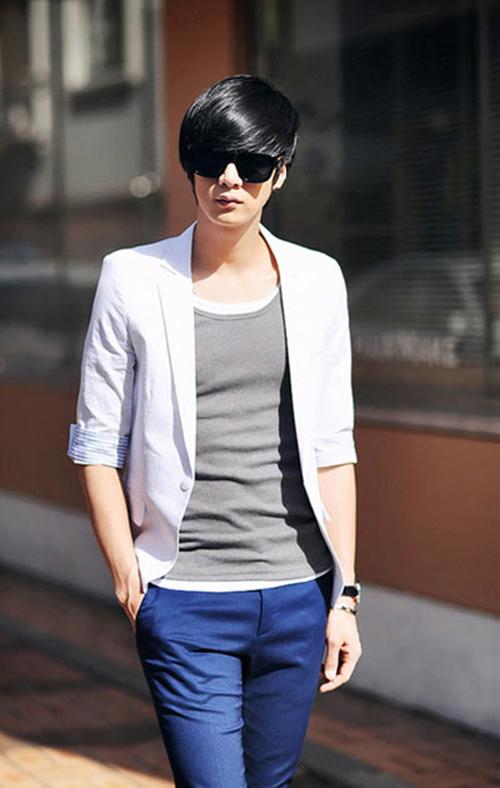 Mách chàng cách phối áo vest với thun sành điệu - 7