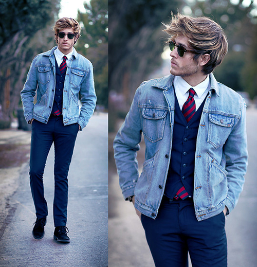 Muôn kiểu áo khoác đẹp cho chàng - 5