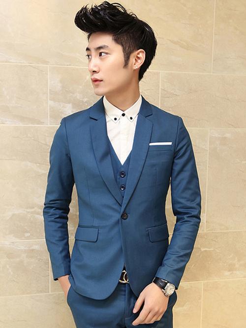 Phái mạnh sang trọng và đẳng cấp với áo vest tông màu xanh - 9