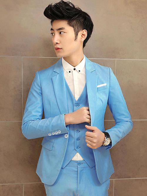 Phái mạnh sang trọng và đẳng cấp với áo vest tông màu xanh - 14