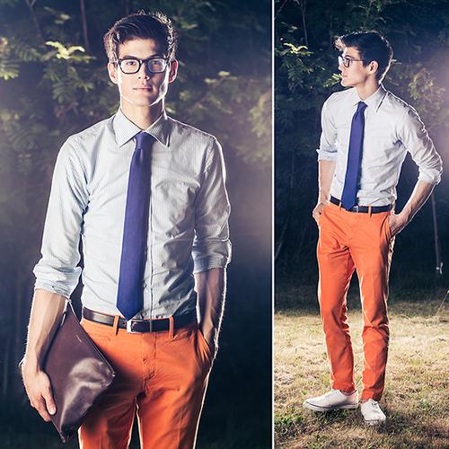 Chàng sành điệu với quần kaki sáng màu - 12