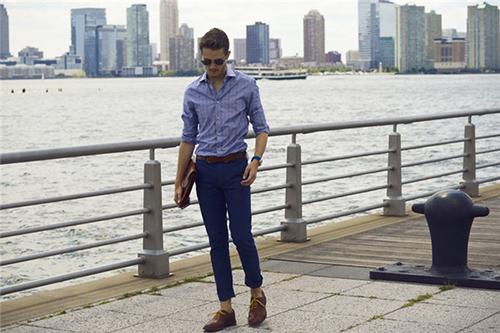 Chàng sành điệu với quần kaki sáng màu - 6