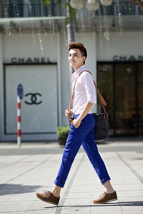 Chàng sành điệu với quần kaki sáng màu - 5