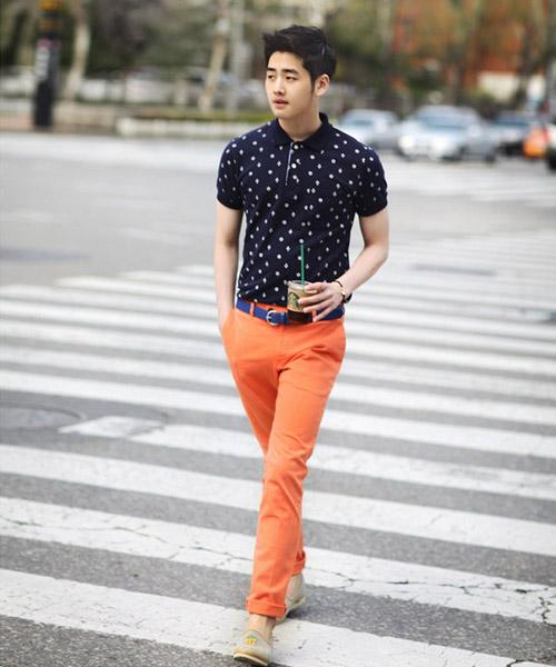 Chàng sành điệu với quần kaki sáng màu - 11