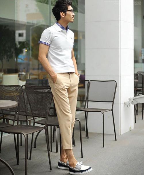 Chàng sành điệu với quần kaki sáng màu - 2