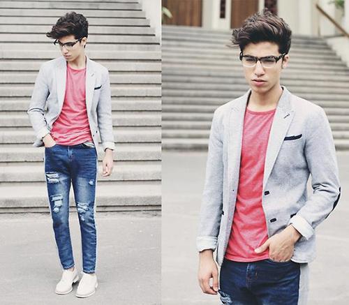 Gợi ý cách phối áo vest cùng kính râm và giày thể thao - 5