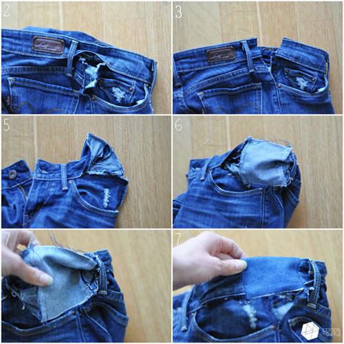 Mẹo xử lý nhanh quần jean chật và rộng - 4