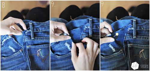 Mẹo xử lý nhanh quần jean chật và rộng - 5