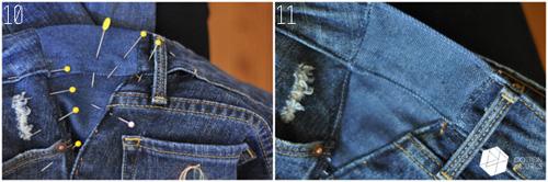 Mẹo xử lý nhanh quần jean chật và rộng - 6