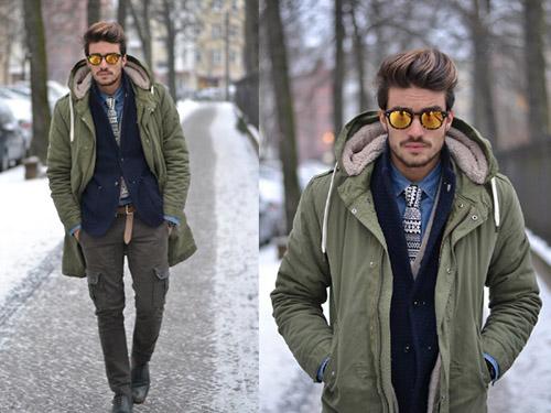 Áo khoác nam cực chất và ấm ngày đông - 4