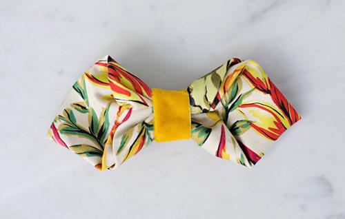 Cách làm nơ đeo cổ nhanh từ vải thừa - 6