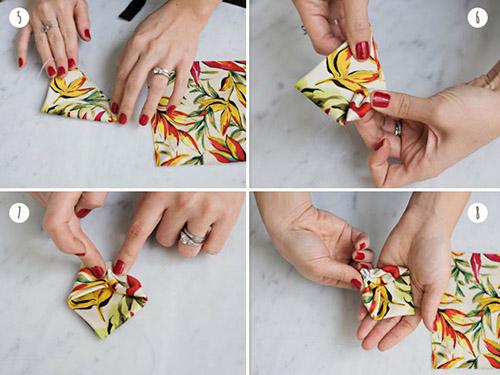 Cách làm nơ đeo cổ nhanh từ vải thừa - 4