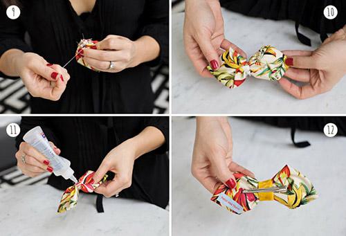 Cách làm nơ đeo cổ nhanh từ vải thừa - 5