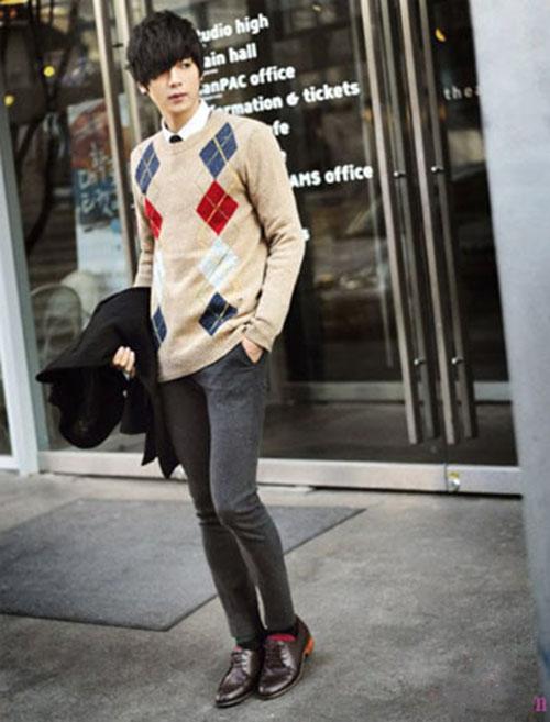 Sơ mi áo len sự kết hợp hoàn hảo cho mùa đông thêm ấm áp - 4