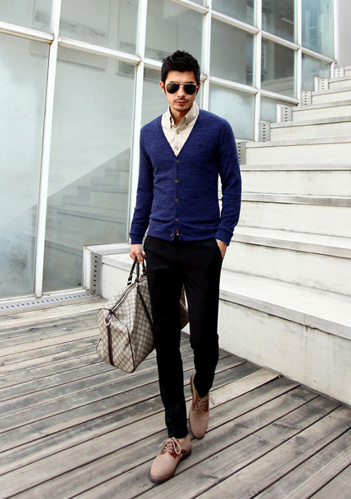 Sơ mi áo len sự kết hợp hoàn hảo cho mùa đông thêm ấm áp - 6