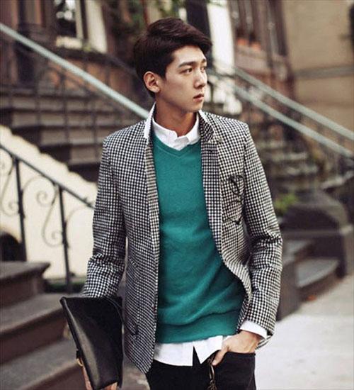 Sơ mi áo len sự kết hợp hoàn hảo cho mùa đông thêm ấm áp - 7
