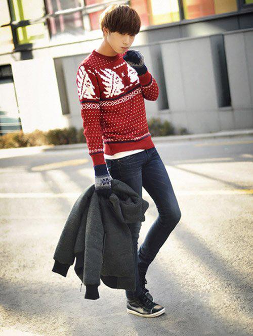 Gợi ý cách phối trang phục cùng quần jean cực ấn tượng đón noel - 4