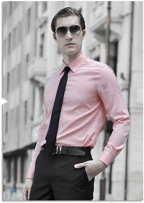 Chàng thanh lịch và cuốn hút với sơ mi nam màu hồng - 5