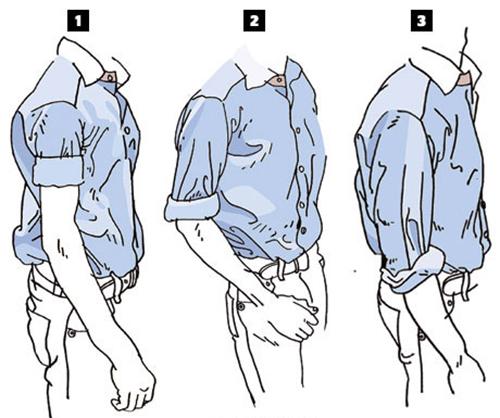Cách xắn tay áo sơ mi đẹp cho nam - 2