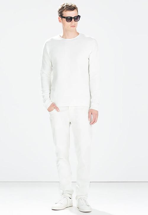 Thay đổi phong cách với quần jean màu trắng - 2