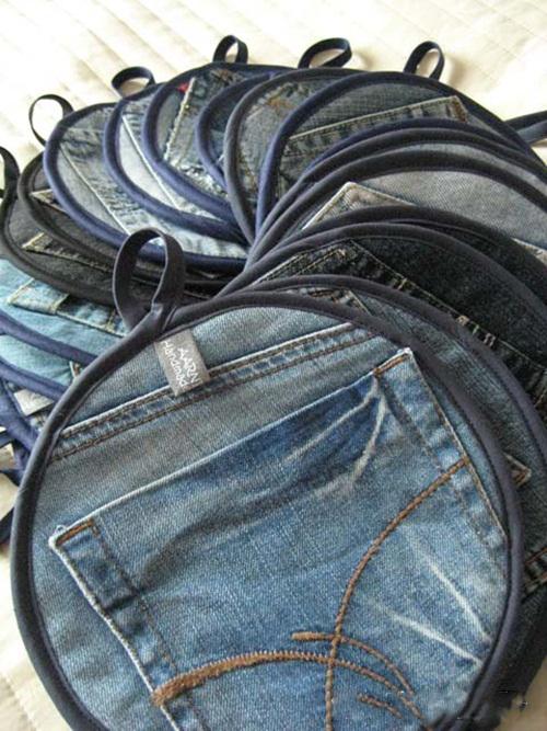 Tuyệt chiêu tái chế quần jean cũ thành thứ có ích - 4