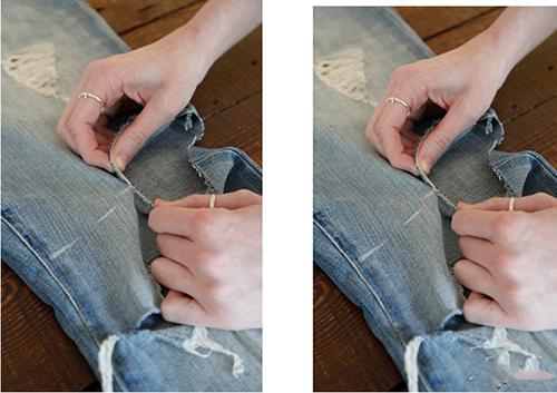 Biến quần jean cũ thành quần lửng cực chất - 2