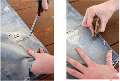 Biến quần jean cũ thành quần lửng cực chất - 3