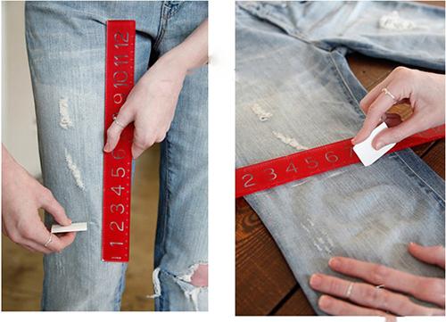 Biến quần jean cũ thành quần lửng cực chất - 1