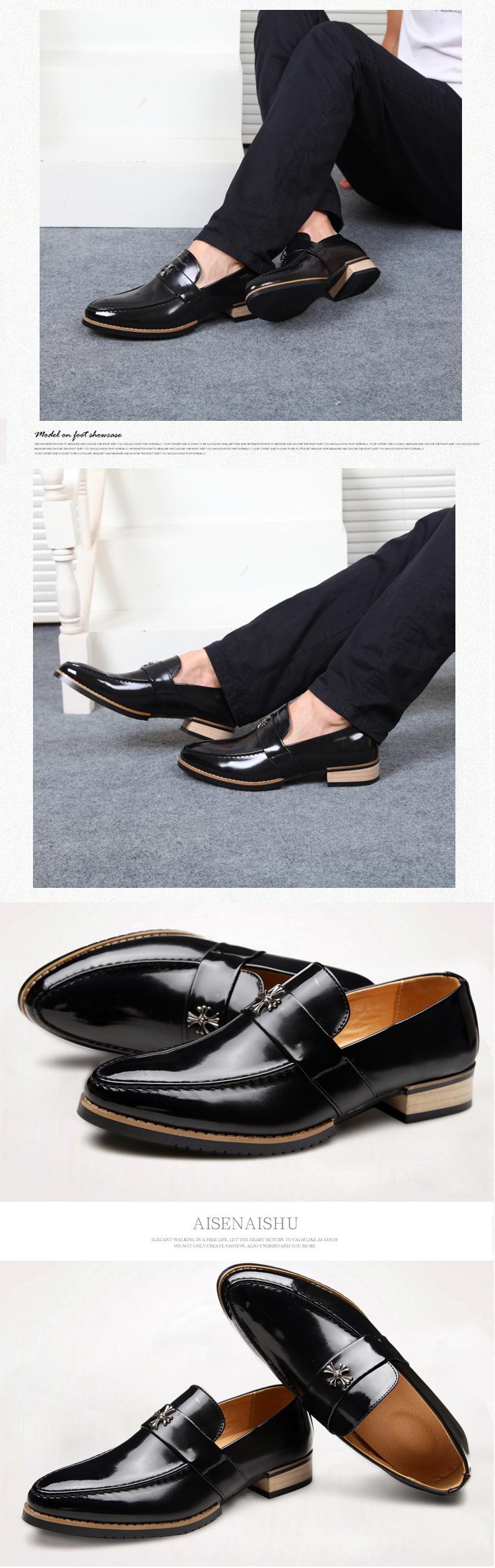 Giày tây đen g67 - 1