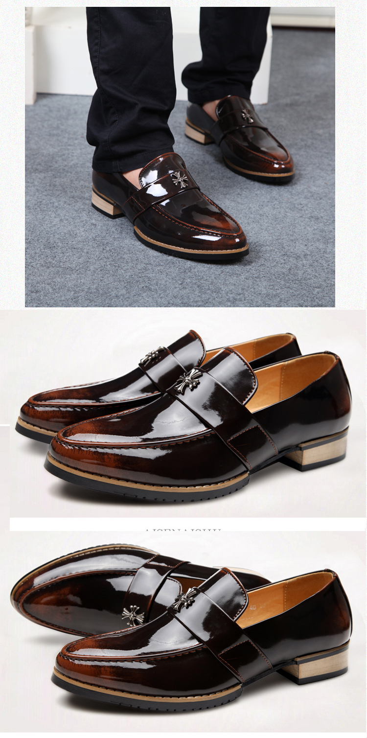 Giày mọi da nâu g67 - 1