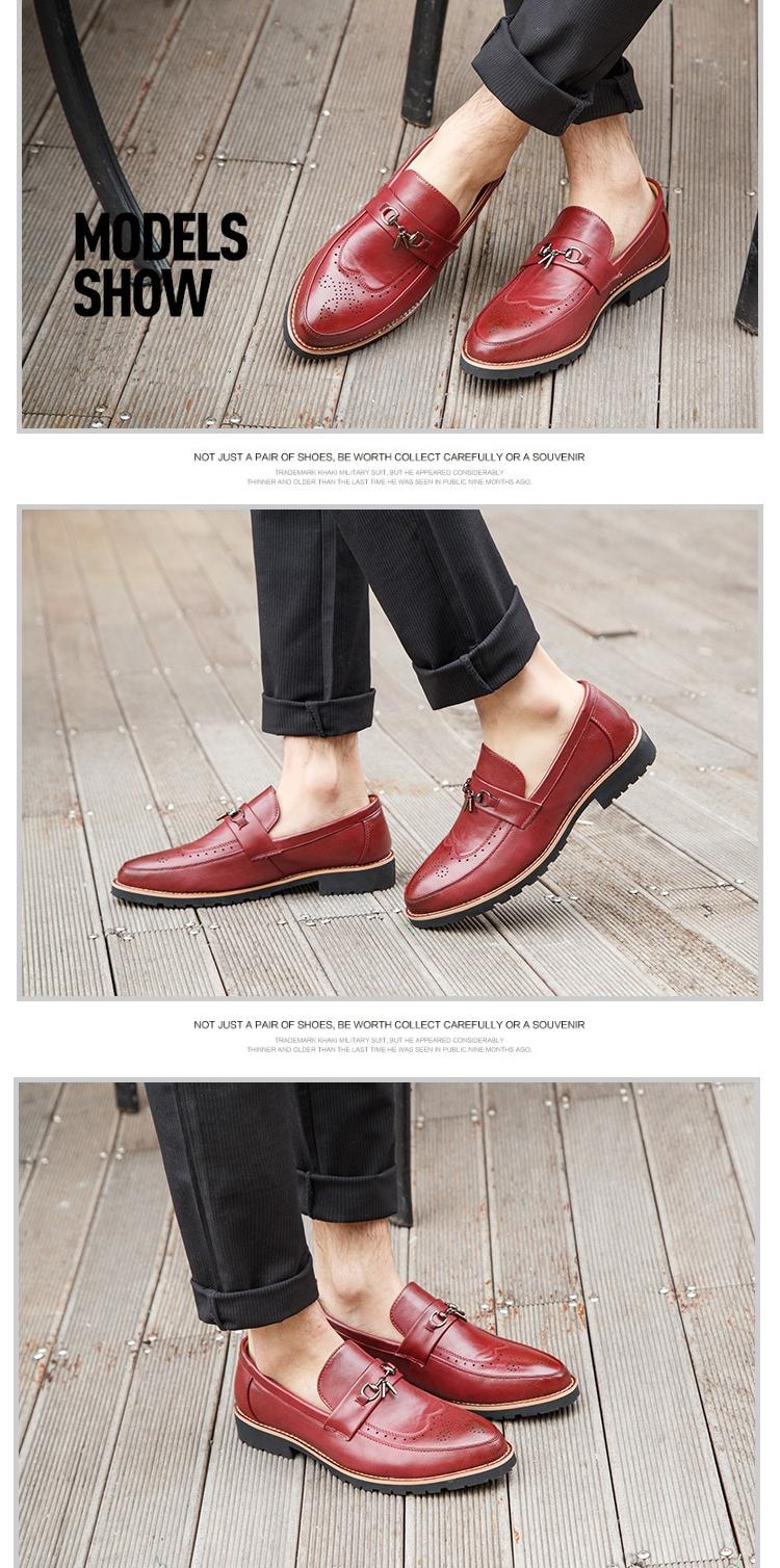 Giày tây đỏ g65 - 1