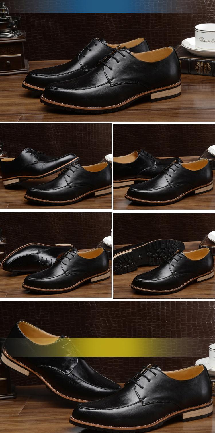 Giày tây da đen g70 - 1